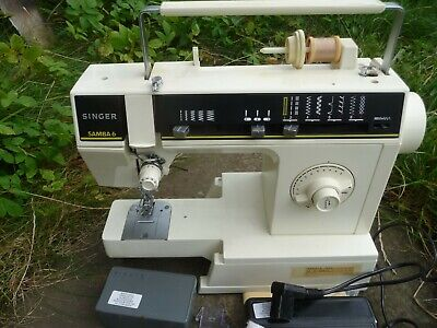 Singer Samba 6 sewing machine serviced PAT tested manual zigzag attachments