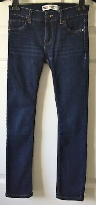 "Levis Boy's 519 Extreme Skinny Jeans City Light 12"" Waist Laying Flat/25"" Inseam"