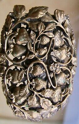 Wonderful, Huge, Vintage Art Nouveau / Art & Crafts Strawberry Design Dress Clip