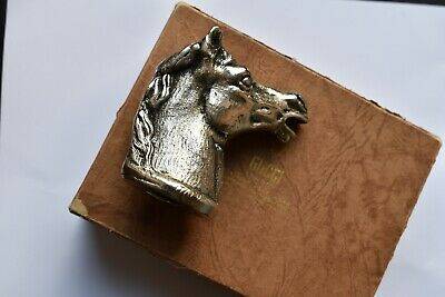 Gucci Made In Italy vintage horse head bottle opener silver metal with box 1970s