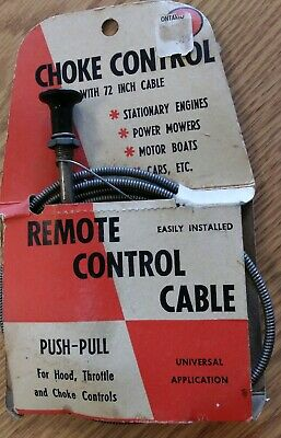 """Universal Control Push Pull Throttle Choke Cable 63/"""" Positive Action Hot Sale"""