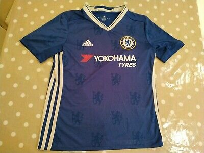 Chelsea FC Boys 11 To 12 Years Home Football Shirt Jersey Adidas Official blues