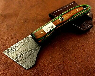 Handmade Damascus Steel Leather Skiver-Leather Cutter-Round Head-LC374
