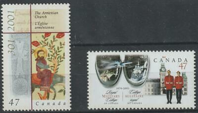 Canada 2001 #1905-1906 2 Commemoratives (Armenian Church & Royal Mil. Colle- MNH