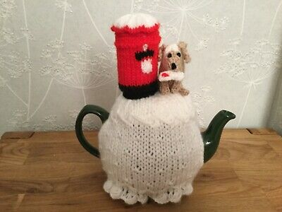 Christmas Post Hand Knitted Tea Cosy.