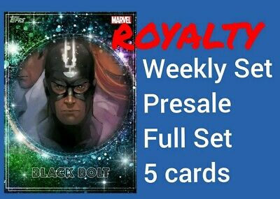 ROYALTY, 5-card FULL SET presale, Topps Marvel Collect, Black Bolt