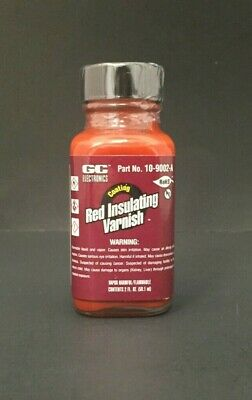 1x GC Electronics 10-9002-A Red Insulating Varnish 2 FL. OZ. New!