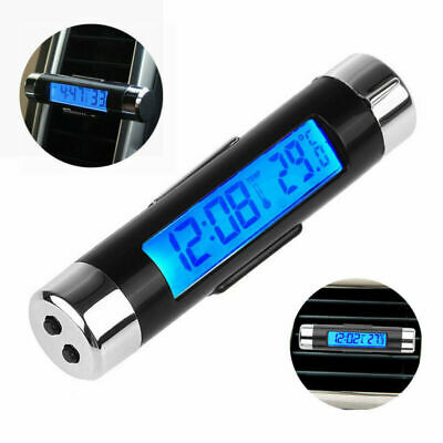 Car Auto Temperature Voltage Clock Thermometer Meter Monitor Digital LCD Display