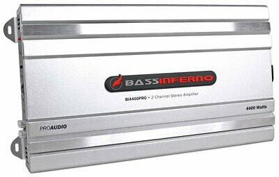Bass Inferno 4400 Watt 2 Channel Amplifier Car Stereo Subwoofer Sub Amp 4000