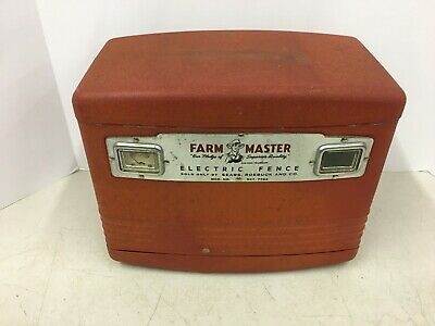 Vintage Antique Farm Master Electric Fence Control Sears Agriculture Farming
