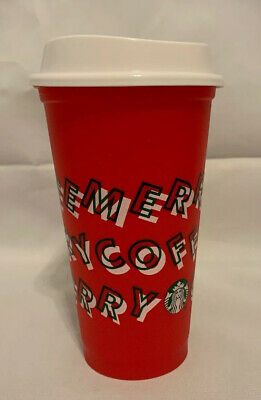 New Merry Coffee Starbucks Holiday Christmas 2019 Red Reusable Cup Hot Cup