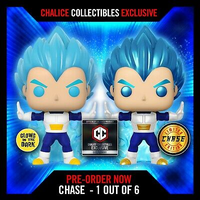 Funko Pop! Dragon Ball Super VEGETA (Powering Up) CHALICE EXCLUSIVE
