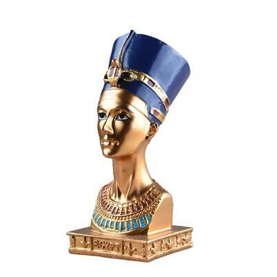 Ancient Egyptian Queen Nefertiti Bust Statue Figurine Egypt Decor Resin Crafts