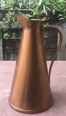 Vintage Joseph Sanke and Sons Hinged Lid copper Pitcher