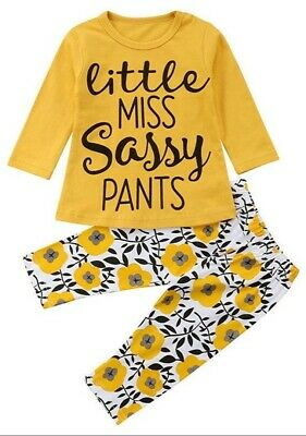 Girls Pyjamas/Little Miss Sassy Pants - Size 9-12 Months