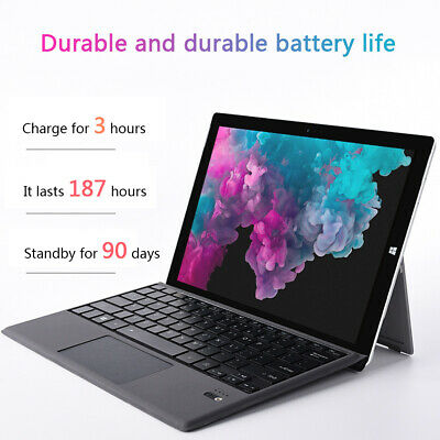 For Microsoft Surface Pro 7 6 5 4 3 Tablet Bluetooth Keyboard 7-Colors Backlit