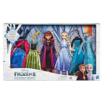 Disney Frozen 2 Elsa and Anna Fashion Bundle PackDoll Set - 6 Outfits