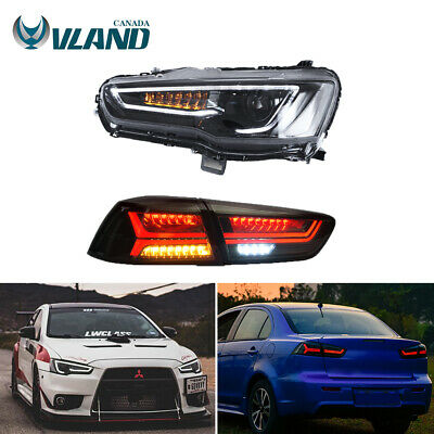 Projector Headlights Full LED Tail Light For 2008-2017 Mitsubishi Lancer / evo