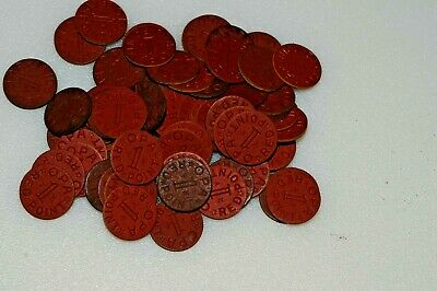 Lot of 20 Vintage World War 2 WWII Canada Meat Ration Tokens Canadian Gov Coins