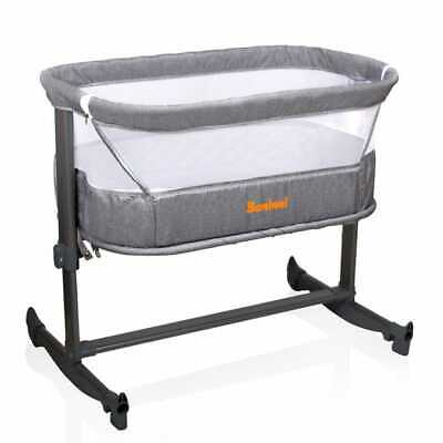 Baninni Co-sleeper 2-in-1 Nesso Donkergrijs Wieg Babybed Kinderbed Babywieg