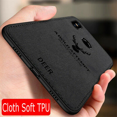 Case For Xiaomi Mi Play 8 Lite A2 A1 F1Hybrid Fabric Soft TPU Leather Back Cover