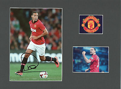 RIO FERDINAND Signed 10x8 Photo display MANCHESTER UTD & ENGLAND Legend COA