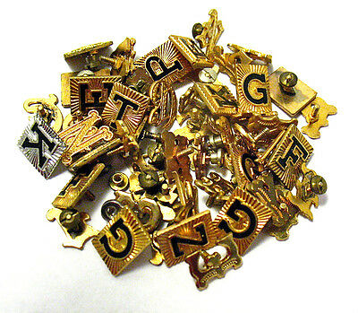 Vintage Jewelry Findings Lot Letters Gold Filled 17 Grams