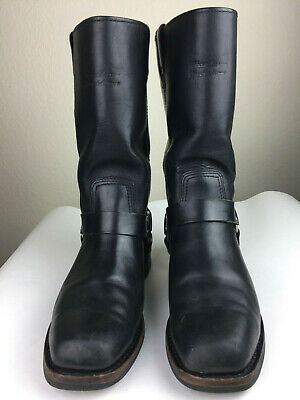 Harley Davidson Mens Size 11.5  Black Leather Motorcycle Harness Boots