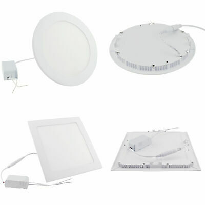 Dimmable 9W 15W 18W 21W 27W LED Recessed Ceiling Panel Downlights Epistar Bulbs