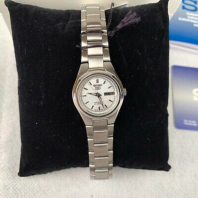 New Seiko SYMC07K1 Women's Automatic Watch Silver Stainless Steel Strap Analogue