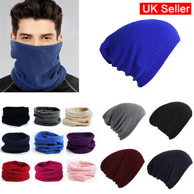 Warm Thermal Neck/Knitted Woolly Winter Oversized Slouch Beanie Hat skateboard