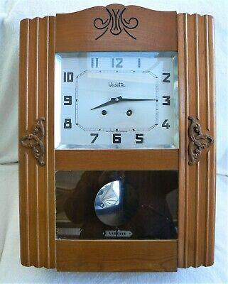 Art Deco French Vedette Wall Clock 22'' Tall (55cm) - 1930's / 1940's