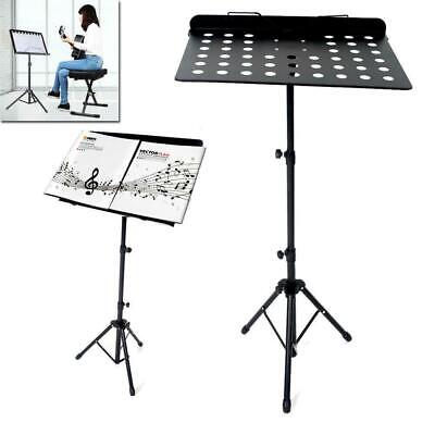 New Heavy Duty Folded Music Stands Metal Adjustable Folding Music Stand