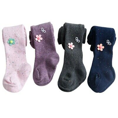 Baby Girls 78% Cotton Tights Leg Warmers Dancing Flowers Stockings 1-8Years