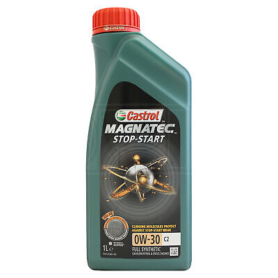 Castrol Magnatec Stop-Start 0W-30 0W30 C2 Fully Synthetic Engine Oil - 1 Litre