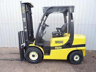 YALE GDP30VX. 3600mm LIFT. USED DIESEL FORKLIFT TRUCK. (#2676)