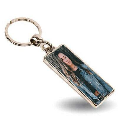 Number Plate, Rectangle Personalised Photo Added Metal Keyring, Double Sided