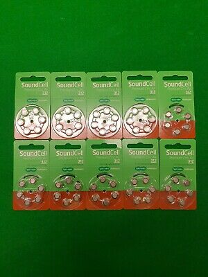 Sound cell premium zinc air 312 Hearing aid  batteries X60