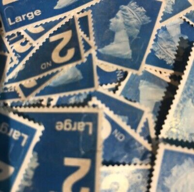 50 2nd Class Large Stamps Unfranked Security Type Off Paper No Gum Stamp Cheap