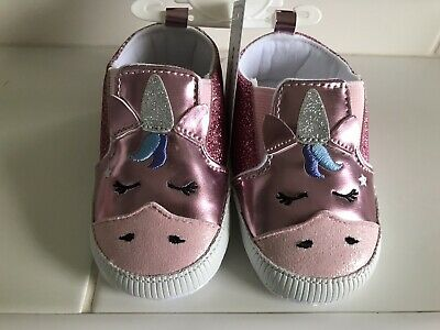 Unicorn Sparkle Shoes Blue Zoo RRP £7 Baby Girl 6-9 Months BNWT