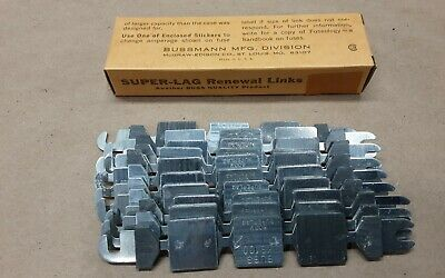 Box of 10 BUSSMANN LKS-100 Fuse Links 100 Amp Renewal Link #11G36RM