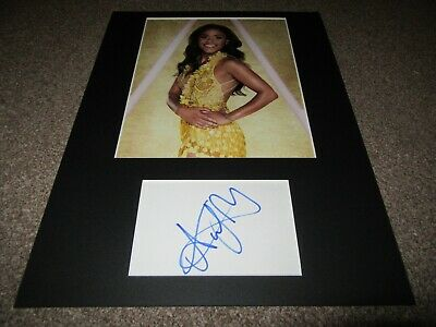 Alex Scott autograph - signed card - England Footballer - Strictly Come Dancing