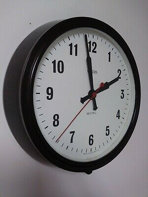 SMITHS SECTRIC  VINTAGE BAKELITE  ELECTRIC WALL CLOCK. Industrial. School.