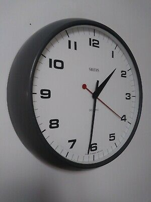 Antique Smiths Station Clock , School Wall Electric. Sectric Delhi. Grey finish