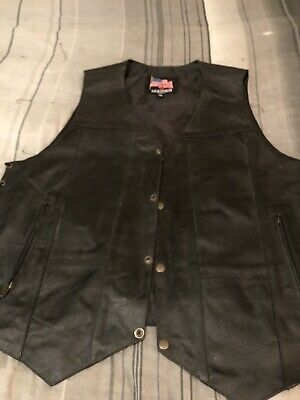 Leather Usa 3XL Motorcyle Vest