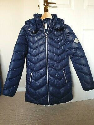 'NEXT' Girls, blue, hooded, winter coat. Age 13 years