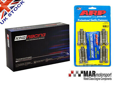 KING RACE Big End / Con Rod Bearings BMW E46 M3 3.2 S54B32 + M11 x 47 ARP Bolts