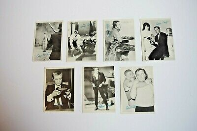 1966 Topps The Man From Uncle Lot of 7 B/W Cards