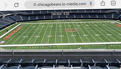 Chicago Bears Vs. Kansas City Chiefs 2 Tickets In Sec. 438 & Row 5 On Dec. 22