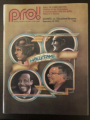 NY Giants vs Cleveland Browns 1972 Program Hall of Fame Edition.